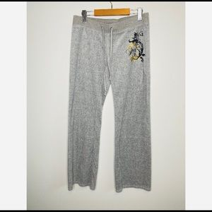 Juicy couture Velour Velvet grey Sweat Pants med